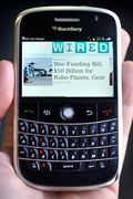 Blackberry phone. Download our conference app