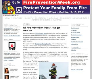 Fire Prevention Week Blog