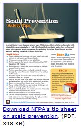 Scald burn tip sheet