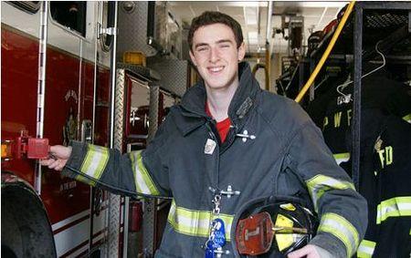 Student firefighter in New York
