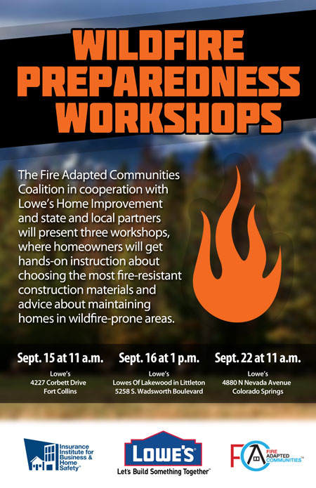 Colorado Rebuilds Fire Adapted Communities Workshops