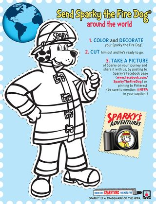 Sparky The Fire Dog Coloring Pages Images Amp Pictures Becuo