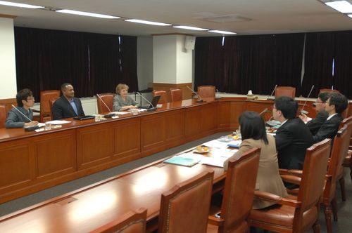 Seung-Li_Ahn,  Derrick Phillips, sharon Gamache exchange pub ed strategy_KFPA_Public eduation staff