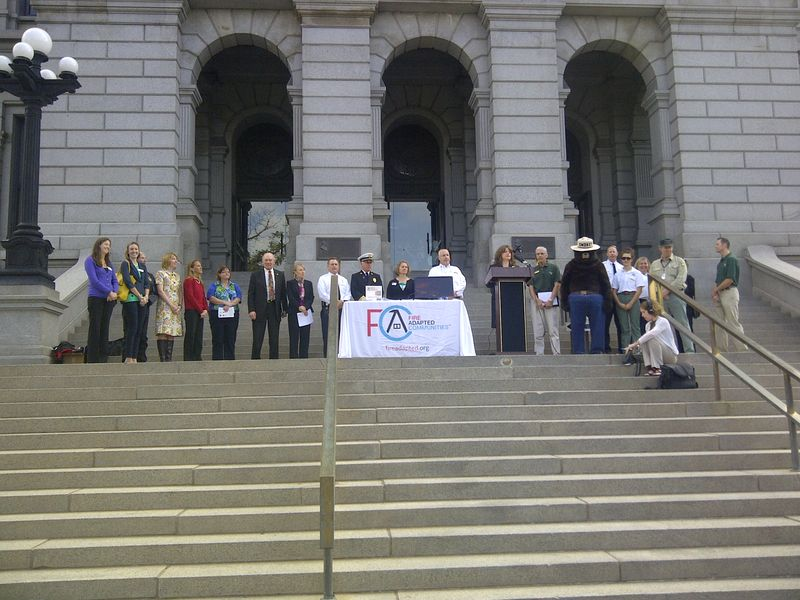 Colorado Builds Fire Adapted Communities kickoff event at the Capitol Building in Denver