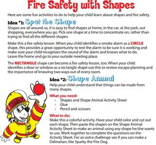 Fire safety with shapes