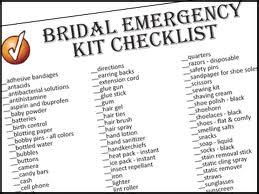 Image of bridal checklist