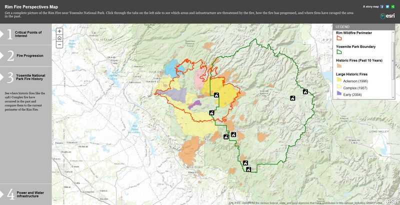RIM Fire Perspectives Map