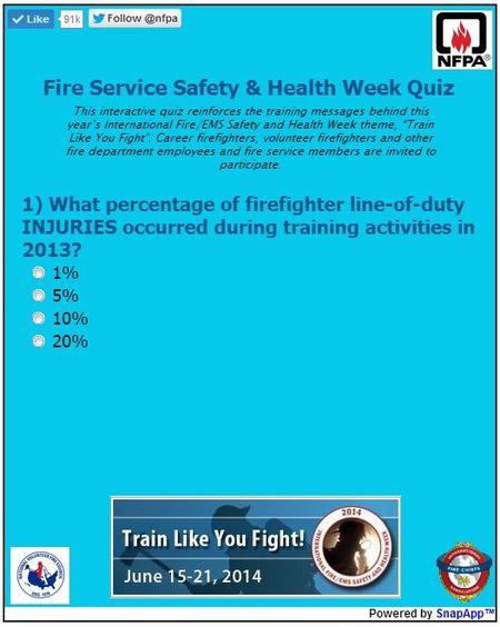 Fire Service quiz 2014
