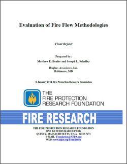 Fire Flow methodologies