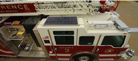Solar fire truck