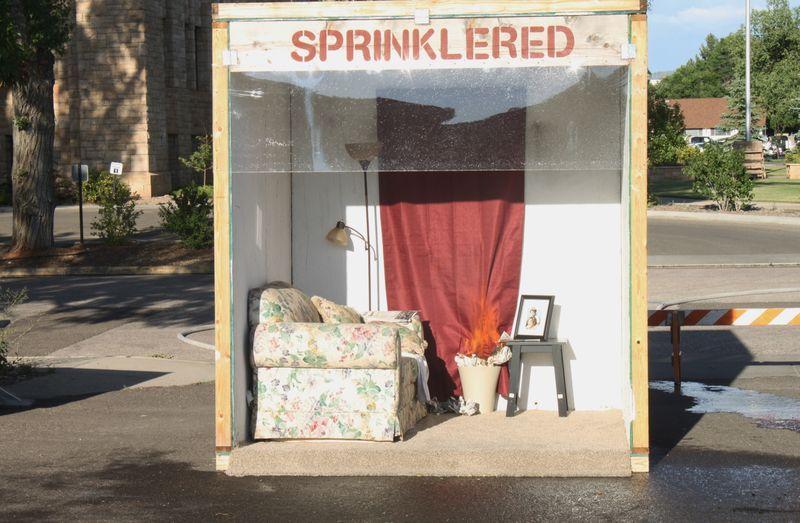 Sprinklered structure
