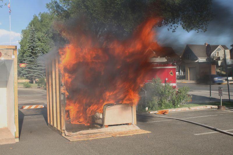 Live burn demonstration