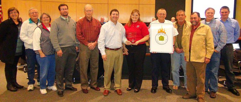 Walden firewise award presentation