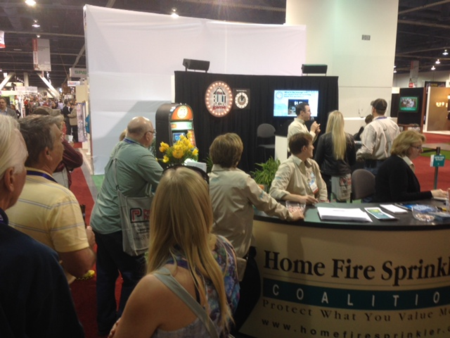 HFSC at home builders show in Las Vegas