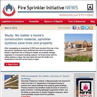 March 2014 Fire Sprinkler Initiative Newsletter
