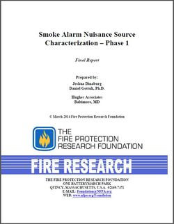 Smoke alarm nuisance