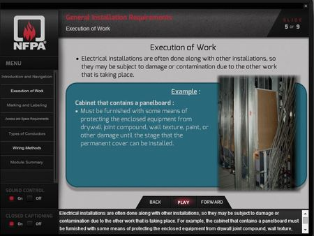 NEC Online Demo Screen Shot