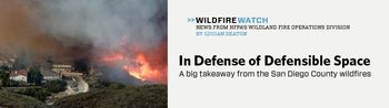 Wildfire cover photo NFPA Journal Sept2014 WildfireWatch column