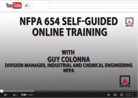 NFPA 654 Online training