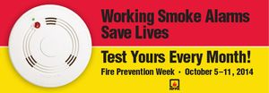 FPW 2014 Smoke Alarms Save Lives Banner