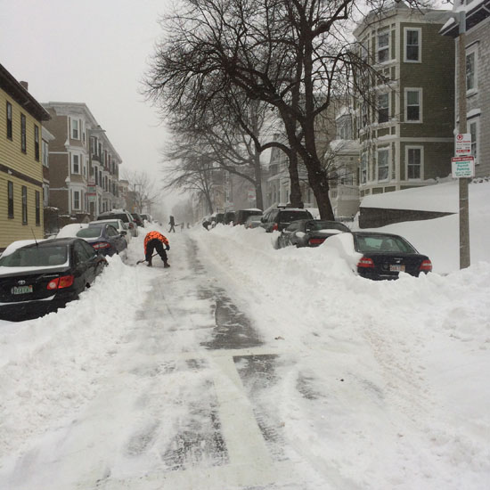 Snow removal in South Boston