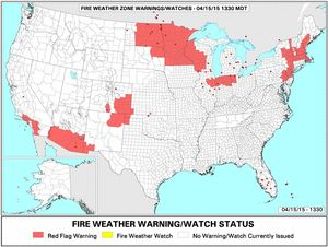 Fire Weather Watch Map NWS 15April15