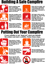 Campfire safety sign