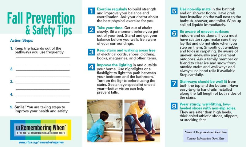 Fall Safety in Large Print