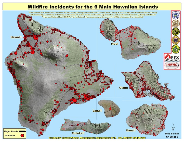 State+of+Hawaii+Fire+History+Map