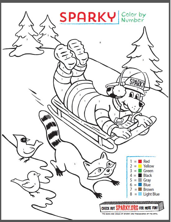 sparky fire dog coloring pages - photo#13