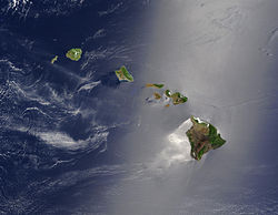 Satellite view of Hawaii