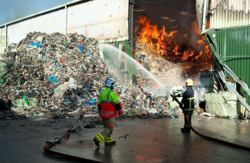 Rubbish fire