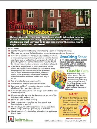 Campus Fire Safety Tips Sheet