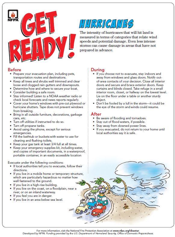 Hurricane Preparedness Tip Sheet