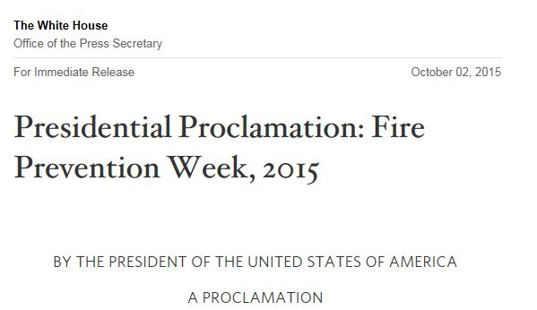 Proclamation headline
