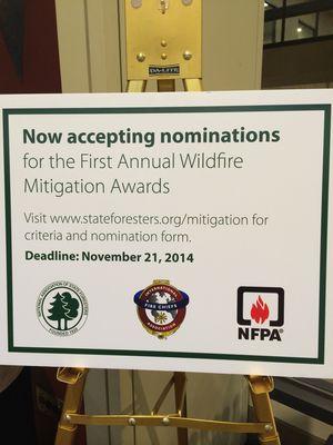 Mitigation award NASF Conf sign