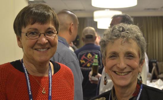 Mary Regan and Ruth Balser