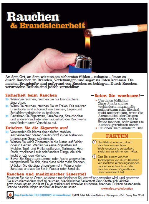 Smoking safety German