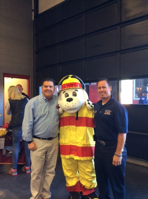 Fire Marshal Bob King and Sparky and Jeff