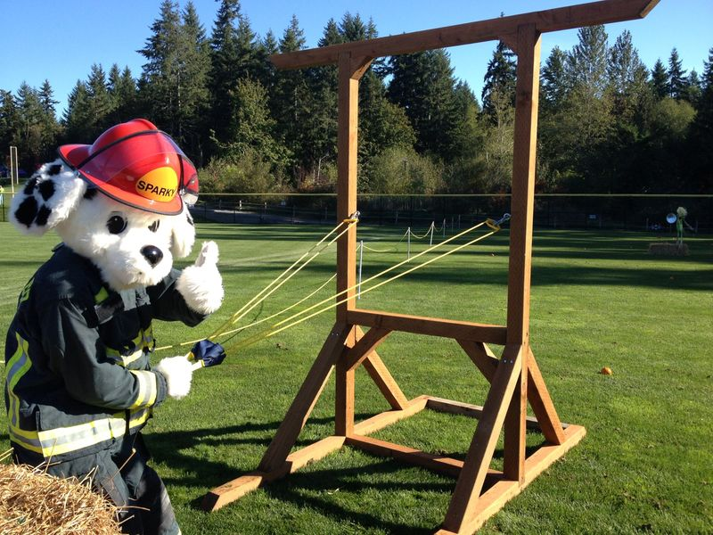 Sparky and pulleys