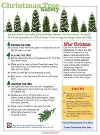 Christmas Tree tips sheet