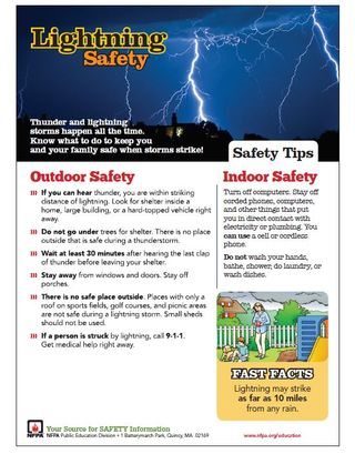 Lightning tip sheet image